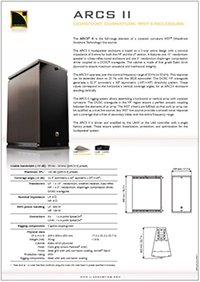L-Acoustics ARCS II Product spec sheet downloaden