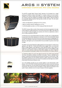 L-Acoustics ARCS II System spec sheet downloaden