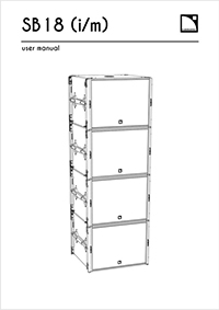 L-Acoustics SB18m user manual downloaden